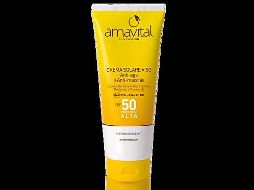 Crema solare viso SPF 50