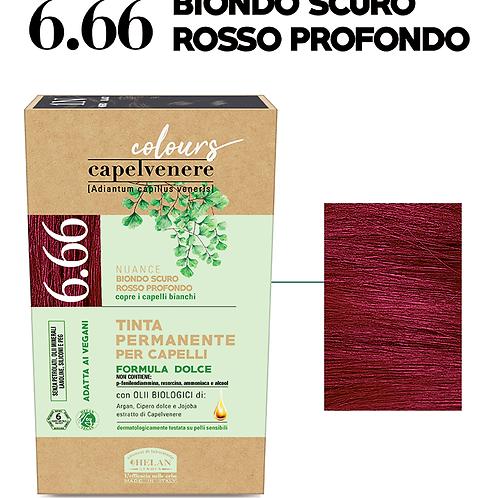 Tinta Capelli 6.66 Biondo Scuro Rosso Profondo