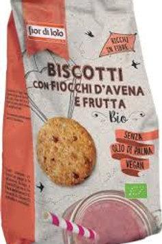 Biscotti con Fiocchi d'Avena e Frutta