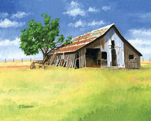 LP/Little Barn on the Prairie • 16 by 12 inch Print