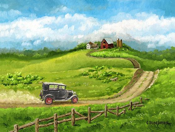 LP/ Hill Top Farm, Model A • 16 x 12