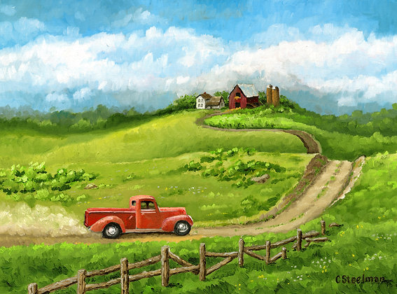 SP/ Going Home Hill Top Farm • 10 by 8 inches