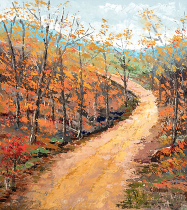 LP/ Casey's Holler in the Fall • 11 by 15 inches