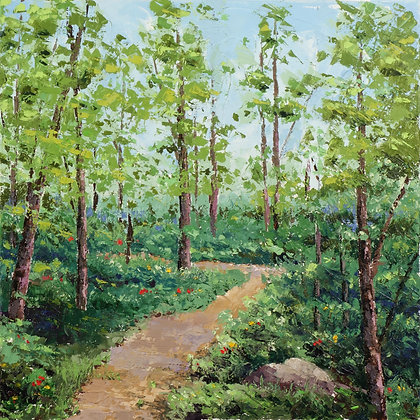 SP/ A Pathway thru the Trees • 8 by 8 inches