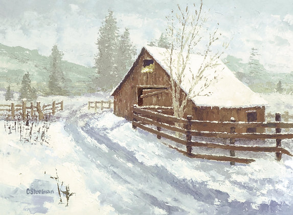 SP/ Winter Barn • 10 by 8 inches