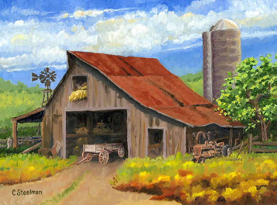 LP/ This Old Barn Wagon • 16 by 12 inches