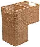 KOUBOO Wicker Step Basket, Natural