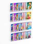 """NIUBEE 36"""" Premium Acrylic Floating Nursery Kids Bookshelf, Set of 4"""