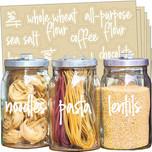 Talented Kitchen 157 White Script Pantry Labels