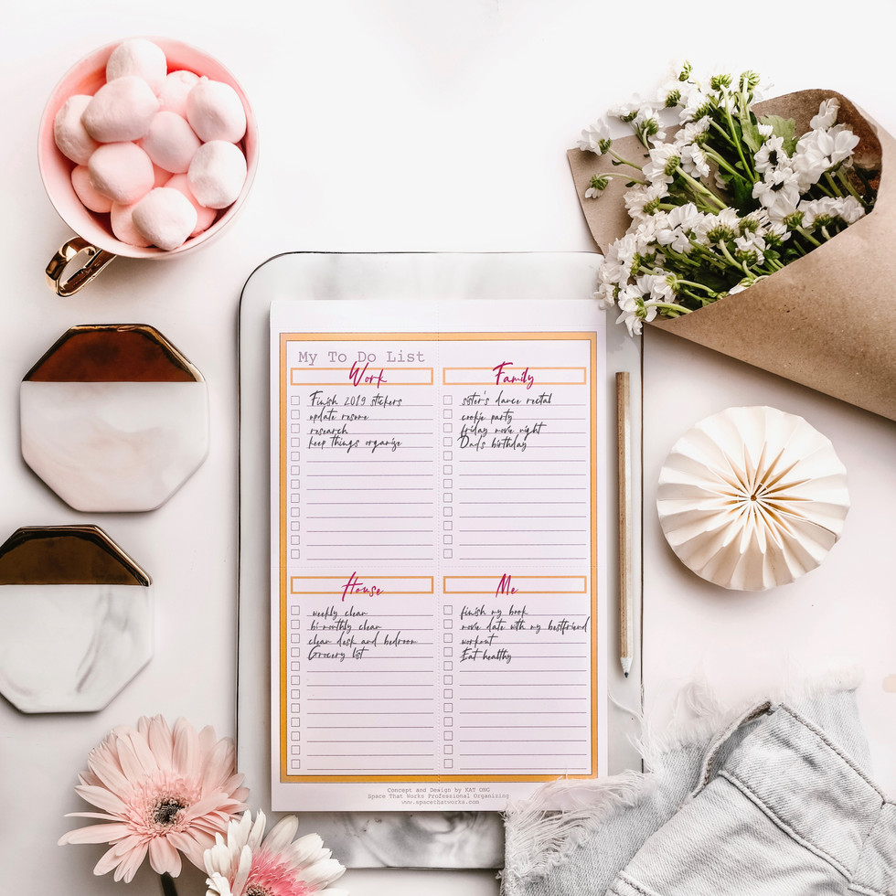 My To-Do List Pad in Peach P199 ea.