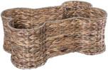 Bone Dry Pet Storage Collection Bone Shape Hyacinth Toy Basket