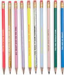 ban.do Women's Write On Pre-Sharpened Graphite Pencil Set of 10