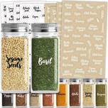 Talented Kitchen 300 Cursive Spice Labels Preprinted