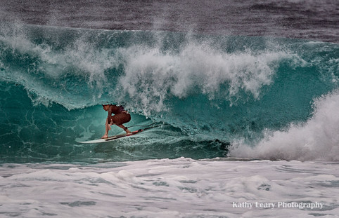 Surfing at Pipeline