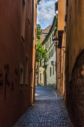 Walkway in Regensburg