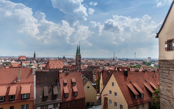 Overlooking Old Town Nüremberg