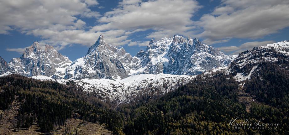 Mountains around Chamonix