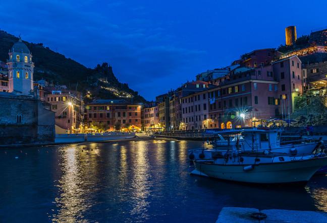Vernazza, Italy at night