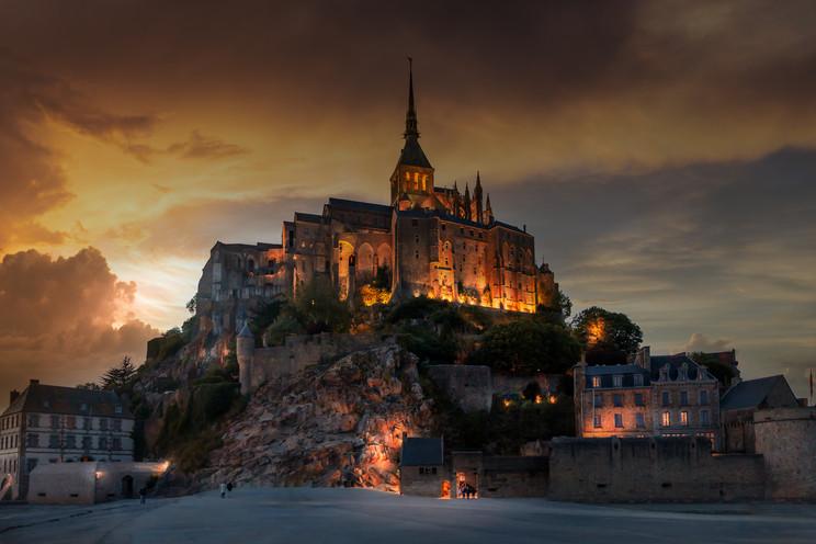 Sunset - Mont St. Michel