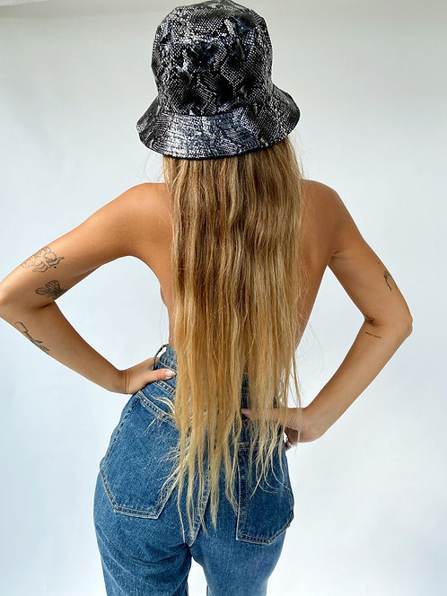 Snake Bucket Hat // Black