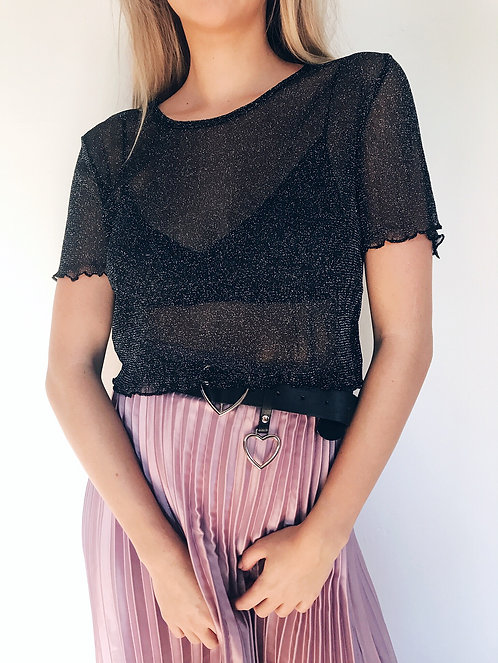 Short Story Long Top // Black