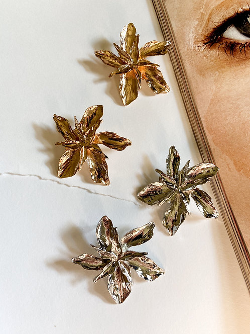 The Felicia Earrings // Gold & Silver