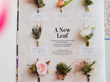 A New Leaf // Boston Weddings Magazine, Fall/Winter 2018