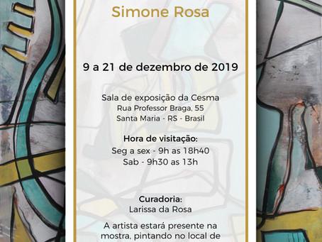 CONSONÂNCIAS PICTÓRICAS: Primeira exposição com pinturas abstratas da artista Simone Rosa