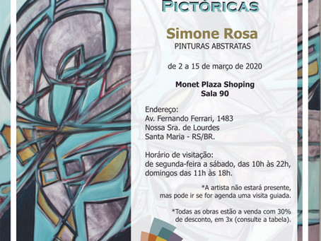 CONSONÂNCIAS PICTÓRICAS: pinturas abstratas no shopping
