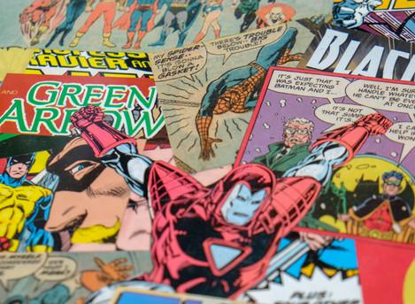Comic book table