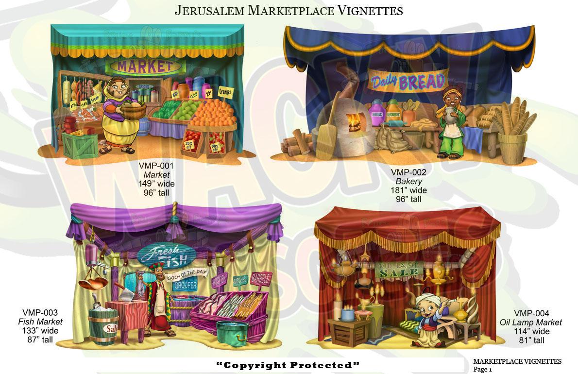 Jerusalem marketplace vignettes