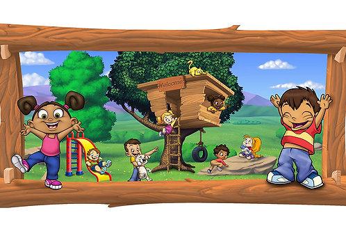Tree House 4 x 8 framed mural