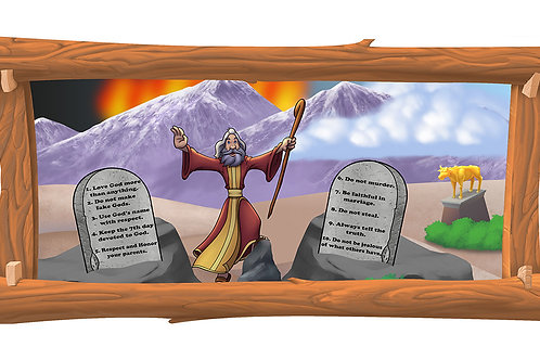 Commandments 4 x 8 framed mural