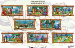 Rustic wood windows