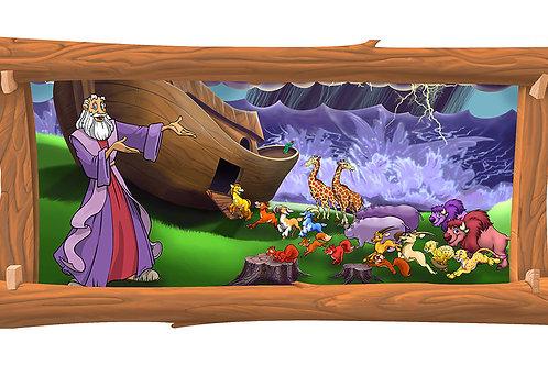 Noah's Ark 4 x 8 framed mural