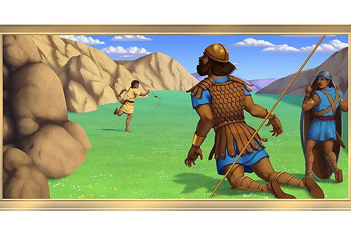 David & Gallia's 4 x 8 framed mural