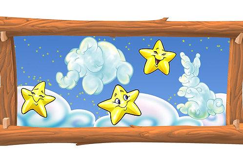 Starry Night 4 x 8 framed mural
