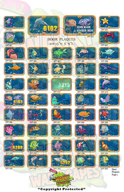 door plaques fish
