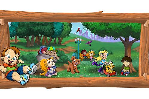 Park 4 x 8 framed mural