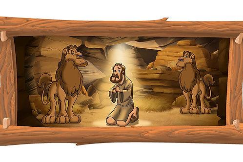 Daniel & the Lion 4 x 8 framed mural
