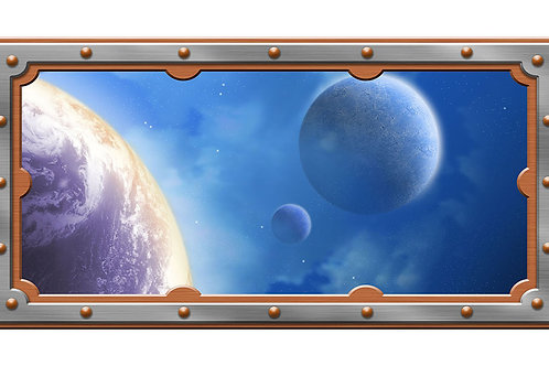 Space 4 x 8 framed mural