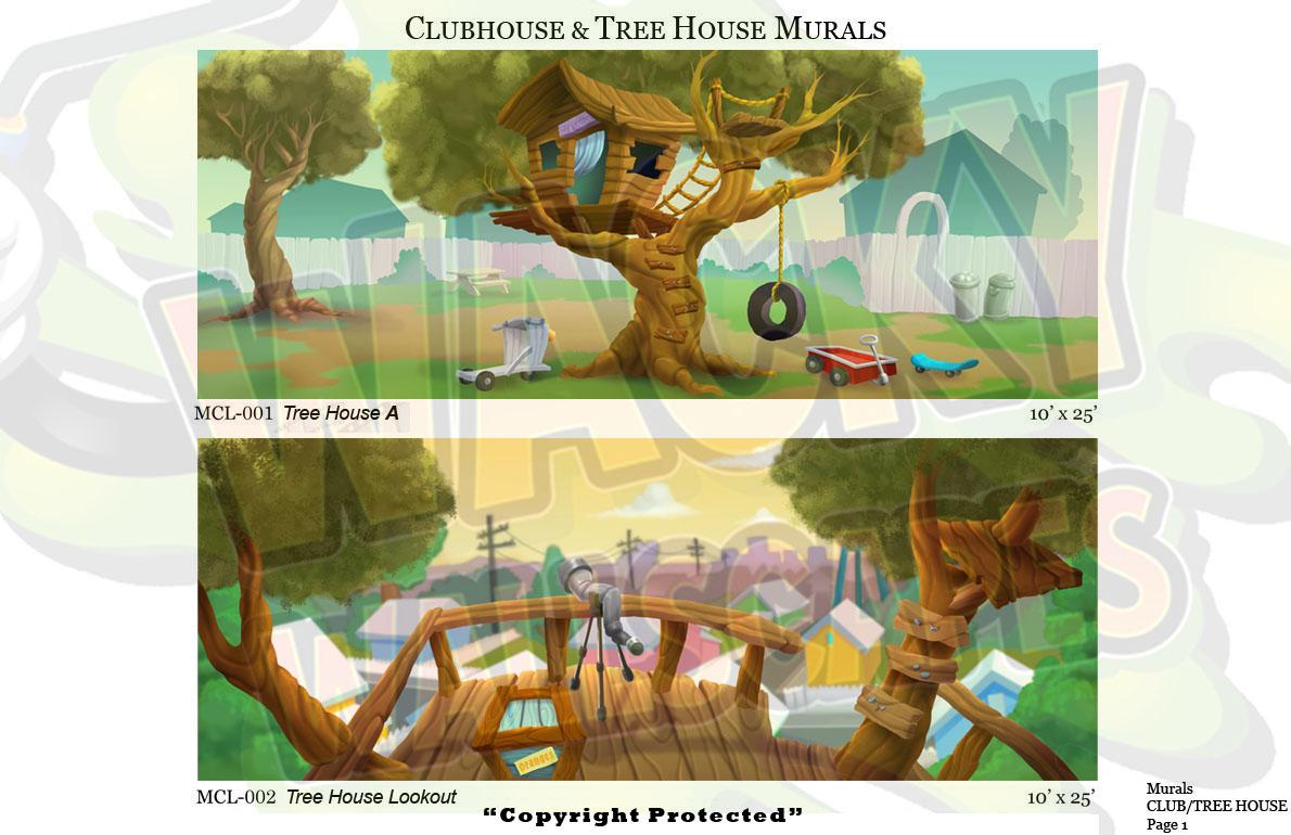 Club/Treehouse Murals