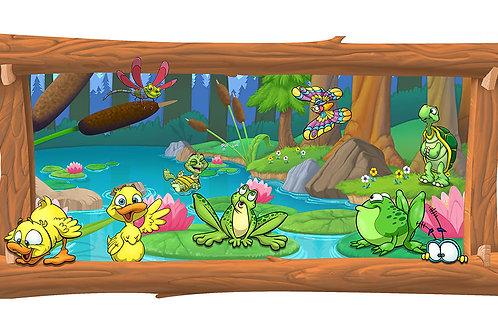 Lake 4 x 8 framed mural