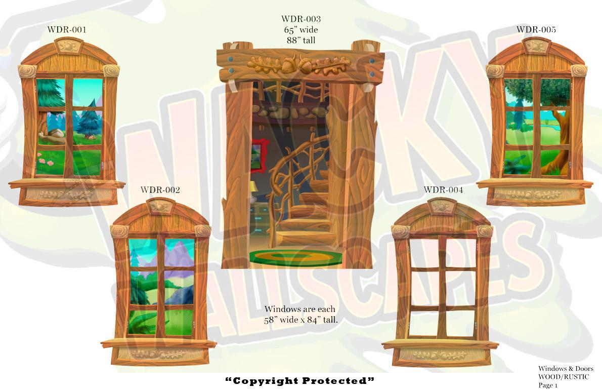 Rustic wood windows & doors