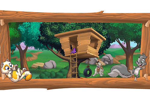 Tree House 4 x 8 framed mural