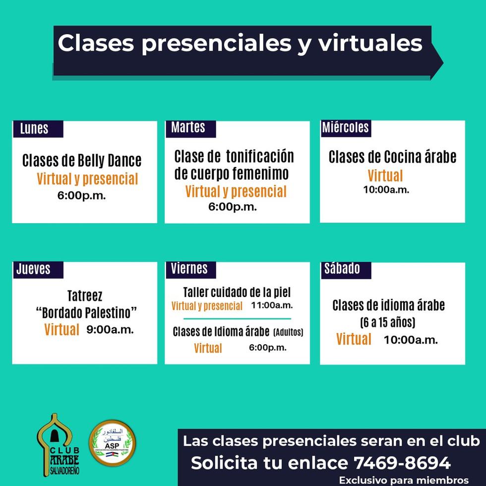 Clases Virtuales | Club Árabe Salvadoreño