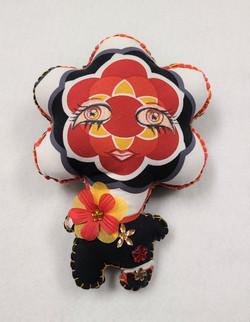 Plush PopArt Flowerhead Doll