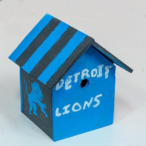 Detroit Lions Birdhouse