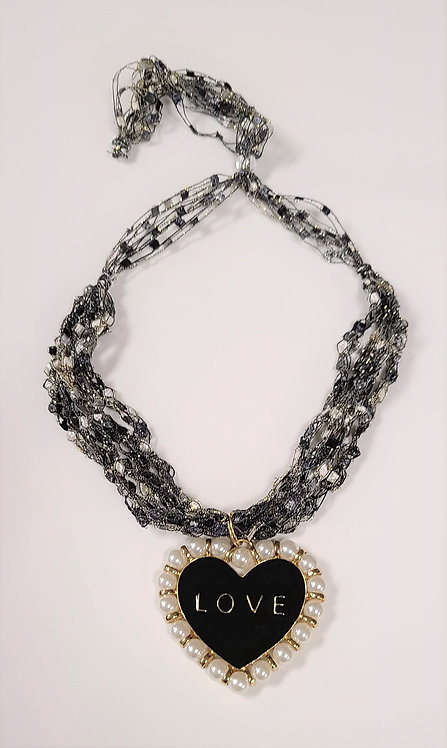 """LOVE"" Crochet Necklace"