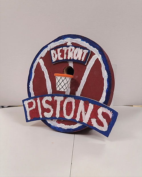 Detroit Pistons Birdhouse